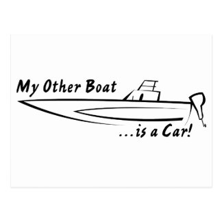 My Other Boat is a Car! Postcard