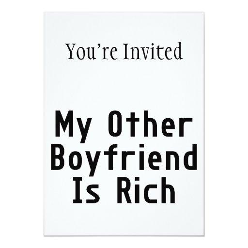 My Other Boyfriend Is Rich Invitations