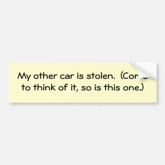 my-other-car-02 bumper sticker