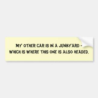 my-other-car-07 bumper sticker