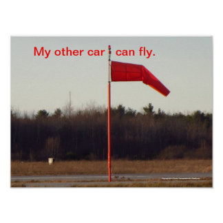 My other car can fly. posters