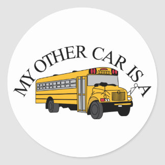 My Other Car Classic Round Sticker