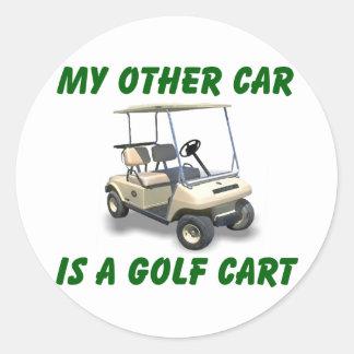 My other car classic round sticker