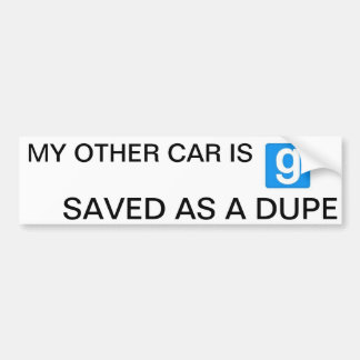 'My Other Car...' gMod Bumper Sticker