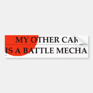 My Other Car Is A Battle Mecha Bumper Sticker