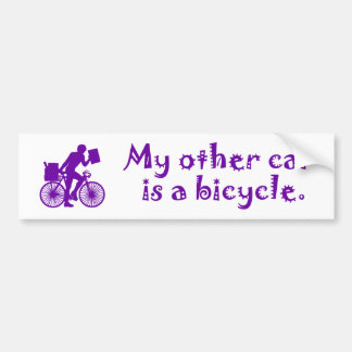My other car is a bicycle bumper sticker