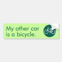 My other car is a bicycle. bumper stickers