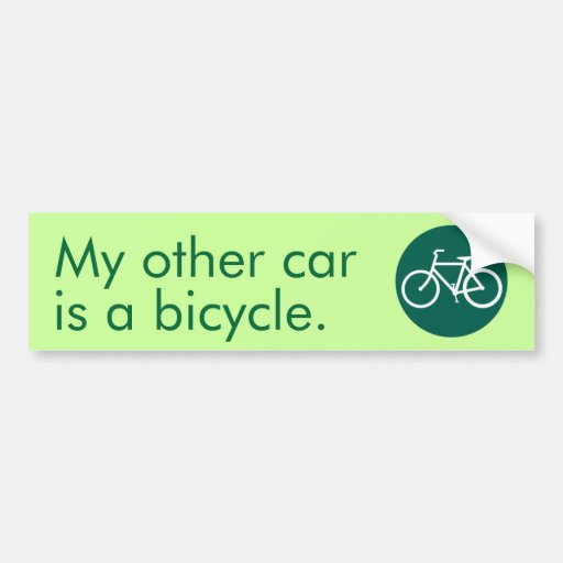 My other car is a bicycle. car bumper sticker