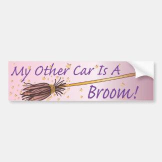 My Other Car Is A Broom 4 - Bumber Sticker Car Bumper Sticker