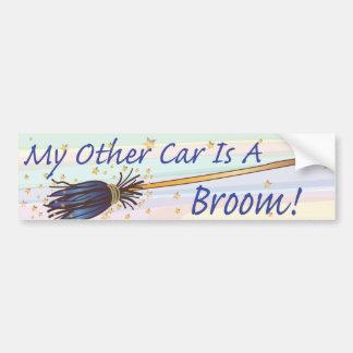 My Other Car Is A Broom 7 - Bumber Sticker Car Bumper Sticker