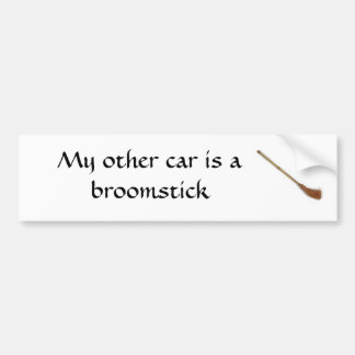 My other car is a broomstick car bumper sticker