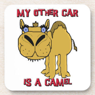 My Other Car is a Camel Schnozzle Cartoon Drink Coaster