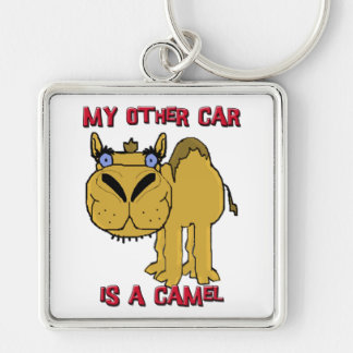 My Other Car is a Camel Schnozzle Cartoon Keychain