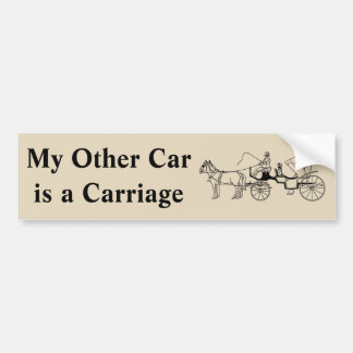 My Other Car is a Carriage Bumper Sticker