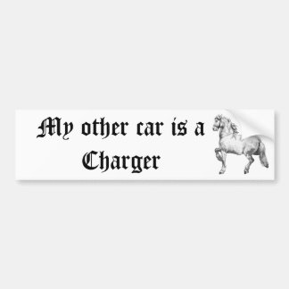 My other car is a Charger Bumper Stickers