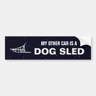 My Other Car Is A Dogsled Car Bumper Sticker