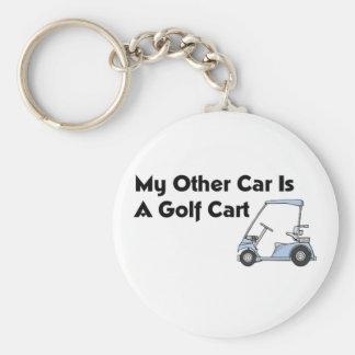 My Other Car is A Golf Cart Keychain