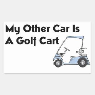 My Other Car is A Golf Cart Rectangular Sticker