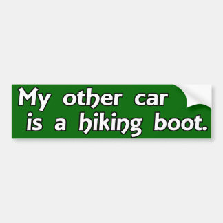 My Other Car is a Hiking Boot Car Bumper Sticker