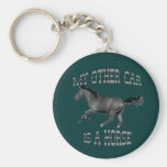 My Other Car Is A Horse Basic Round Button Keychain
