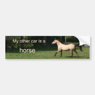 My other car is a horse bumper sticker