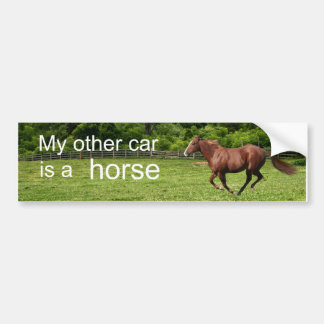 My other car is a horse car bumper sticker