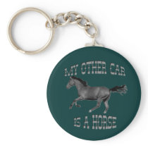 My Other Car Is A Horse Keychain