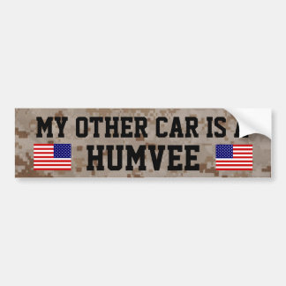 My Other car is a Humvee (HMMWV) Bumper Sticker