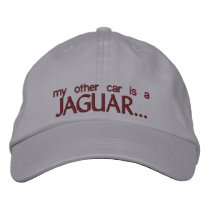 MY OTHER CAR IS A JAGUAR EMBROIDERED BASEBALL HAT