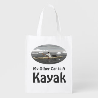 My Other Car Is A Kayak Reusable Grocery Bags