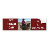 My other car is a mustang bumper sticker