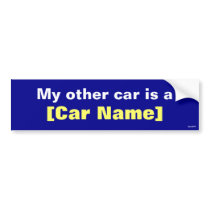 My other car is a... (Navy) Bumper Sticker