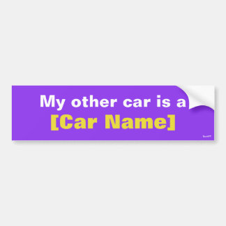 My other car is a... (Purple) Bumper Sticker