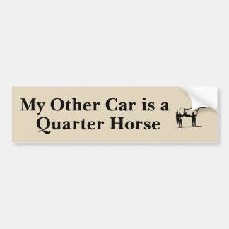 My Other Car is a Quarter Horse Bumper Sticker
