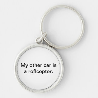 My other car is a roflcopter keychain