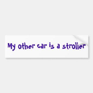 My other car is a stroller car bumper sticker