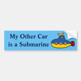 My Other Car is a Submarine Bumper Sticker