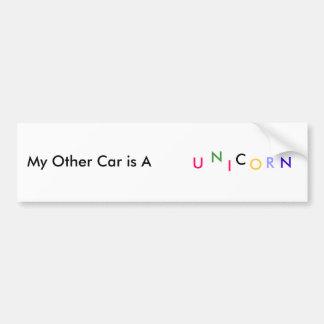 My Other Car is A, U, N, I, C, O, R, N Car Bumper Sticker