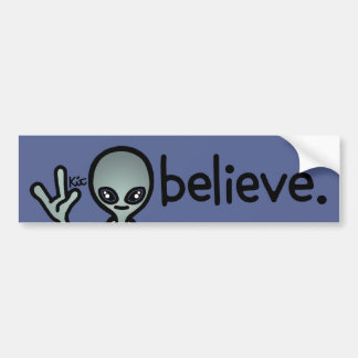 my other car is a ufo. bumper sticker