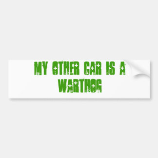My other car is a warthog car bumper sticker