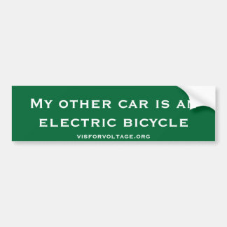 My other car is an electric bicycle car bumper sticker