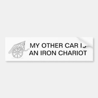 MY OTHER CAR IS AN IRON CHARIOT CAR BUMPER STICKER