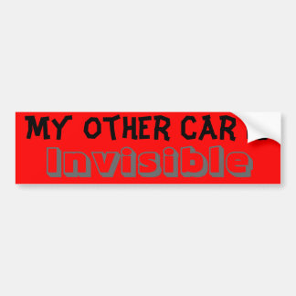 My other car is Invisible Bumper Sticker