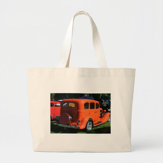 My other car is on the front large tote bag