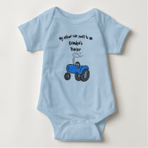 My other car seat ... Grandpa's tractor Baby Bodysuit