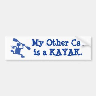 My other car's a kayak bumper sticker car bumper sticker