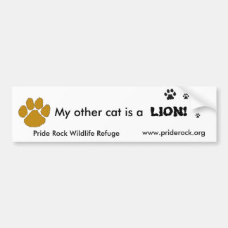My other cat is a lion bumper sticker