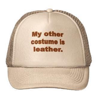 My Other Costume is Leather Hats
