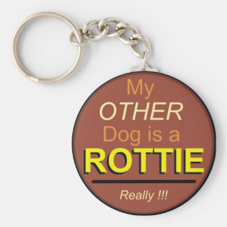 My Other Dog is a Rottie Basic Round Button Keychain