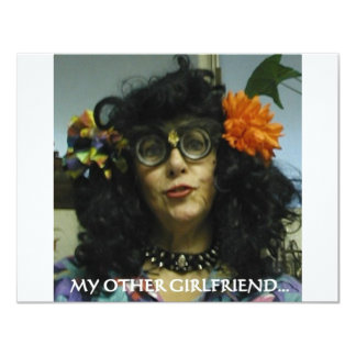 "MY OTHER GIRLFRIEND 4.25"" X 5.5"" INVITATION CARD"